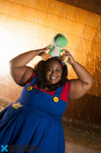 Mario and Yoshi by Nude Carbon Studios shooting for the group X-Geek